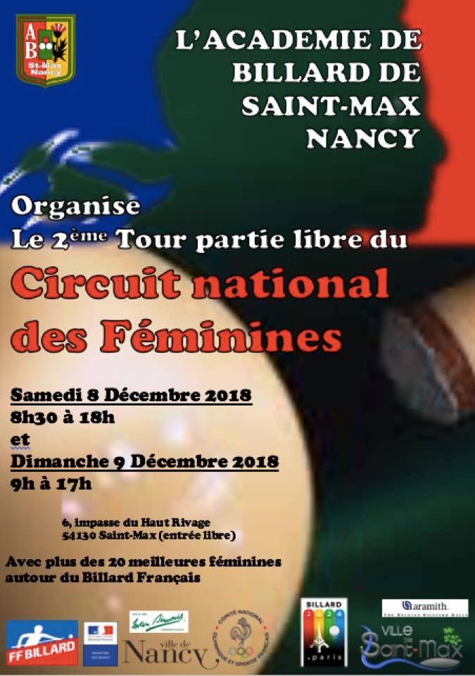 FFB 2018 2019 Libre Dames TN2 de Saint Max Nancy du 9 12 18