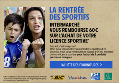 intermarche promo licences 2018