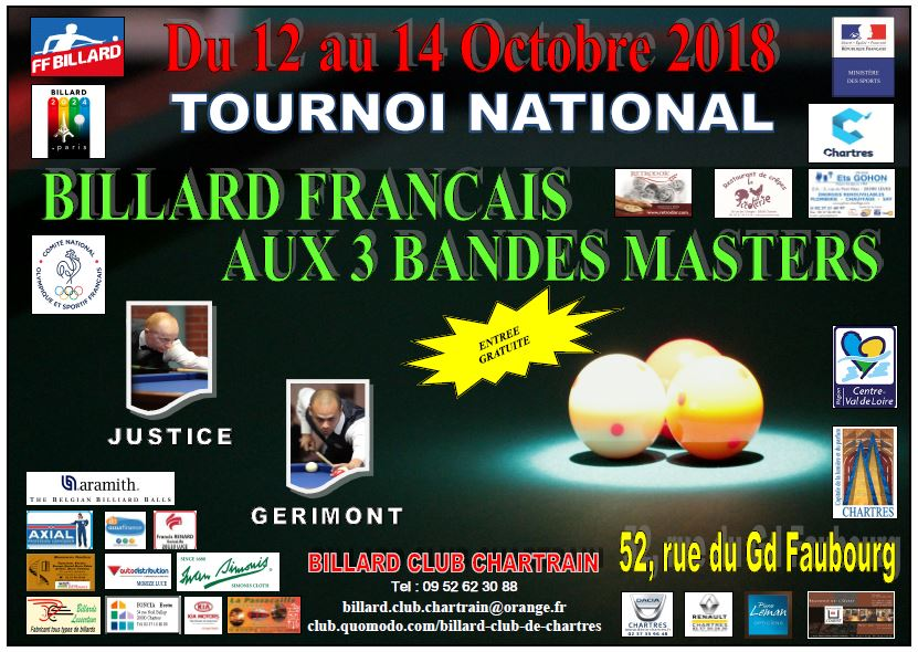 ffb TN1 3Bandes Masters Chartres 2018