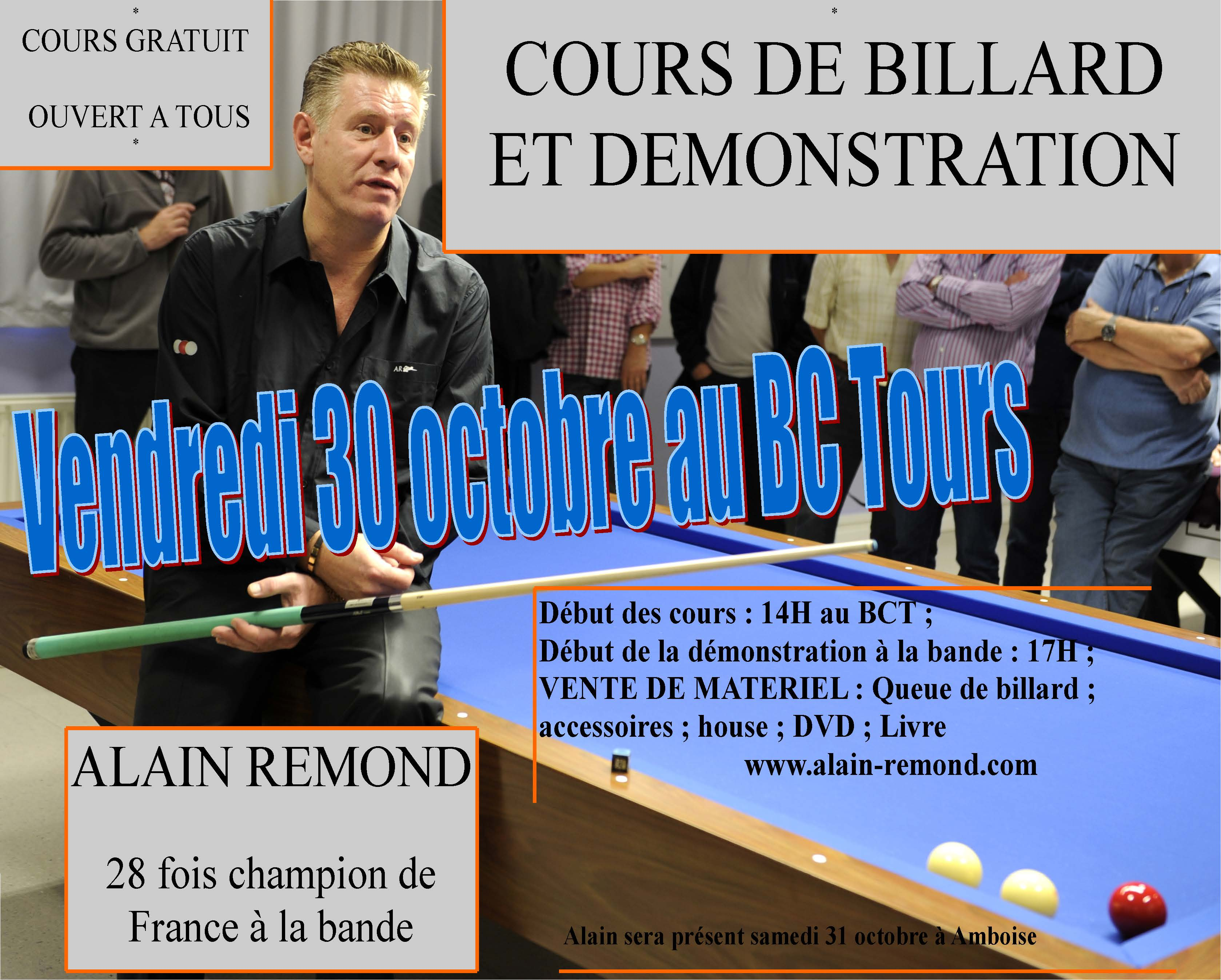Alain Remond multiple champion de France au BC Tours le 30/10/2015