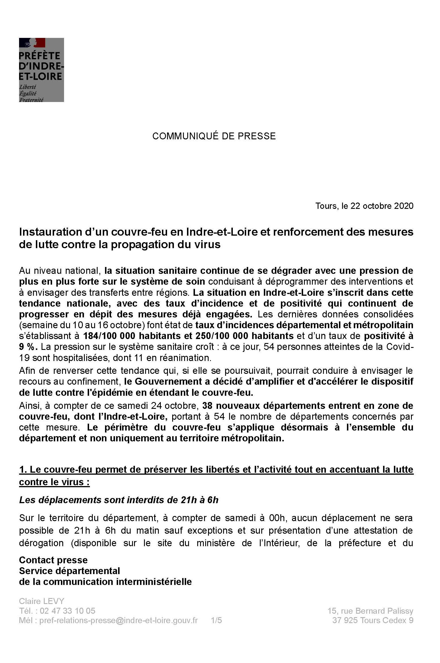 couvre feu 23 10 2020 Page 1